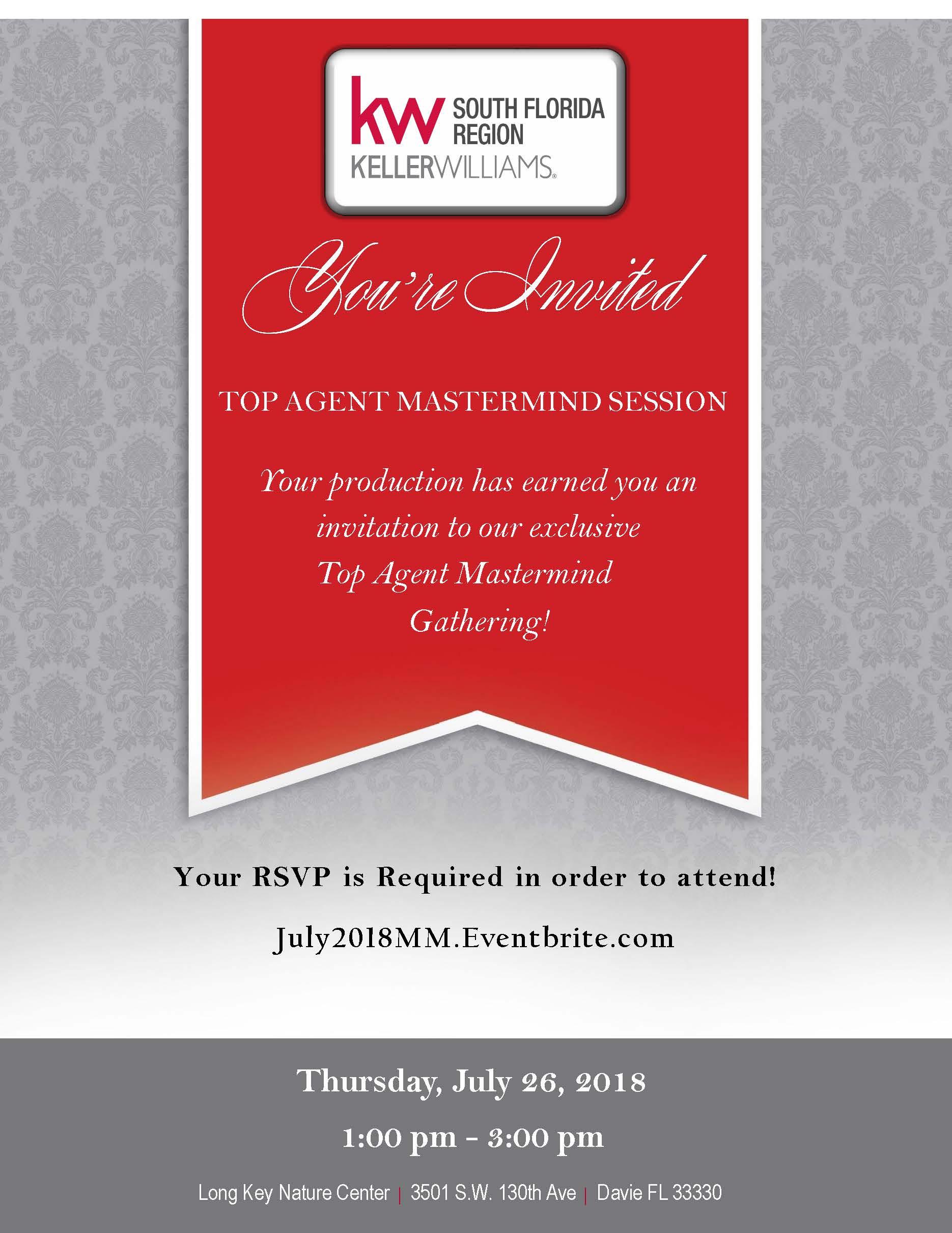 Top Agent Mastermind - Invitation Flyer - 7.26.18