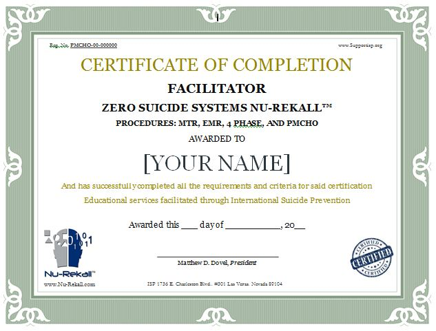Nu-Rekall Certification