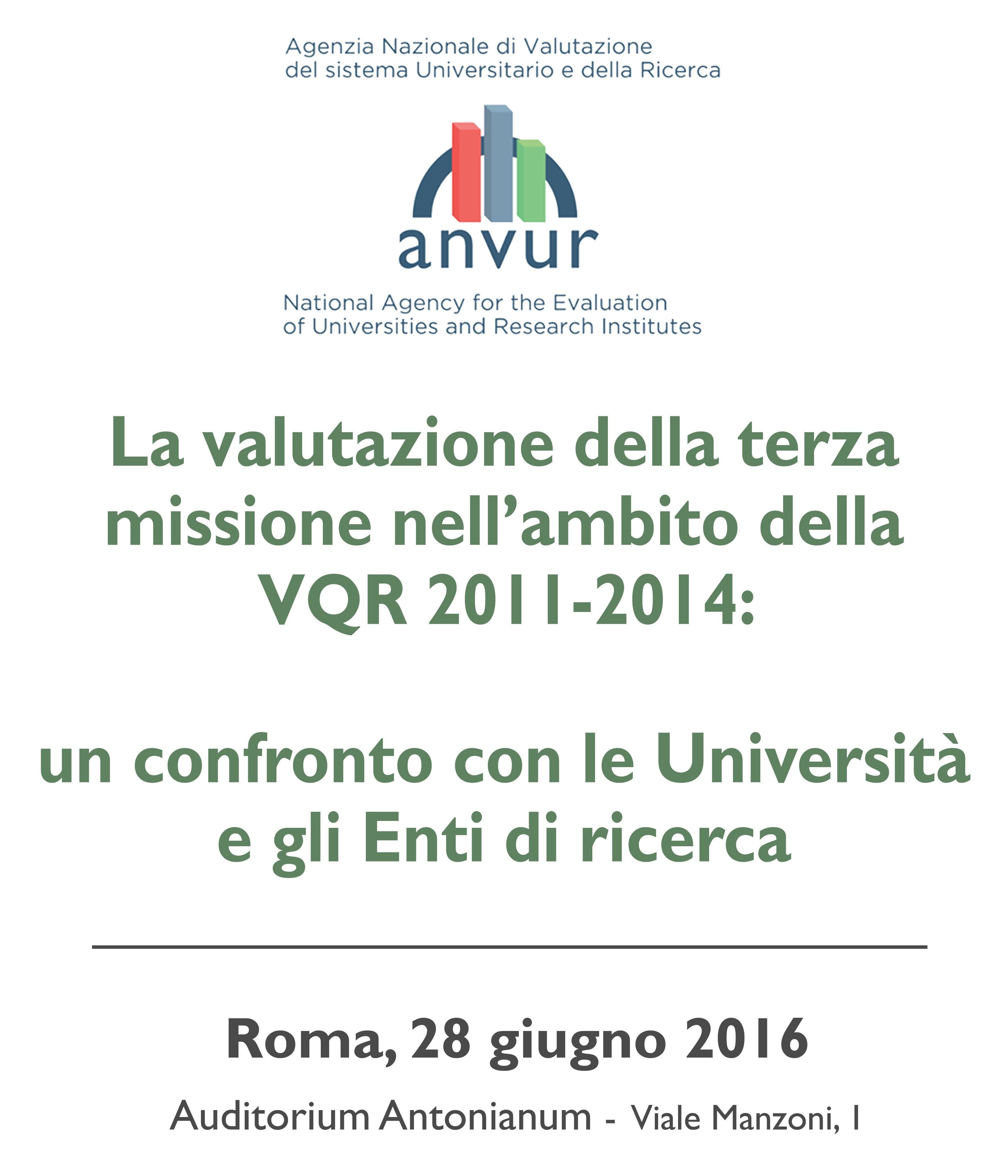 La valutazione della terza missione nell'ambito della VQR 2011-2014
