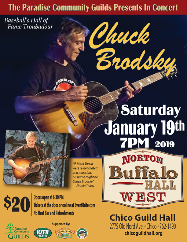 Chuck Brodsky at Chico Guild Hall