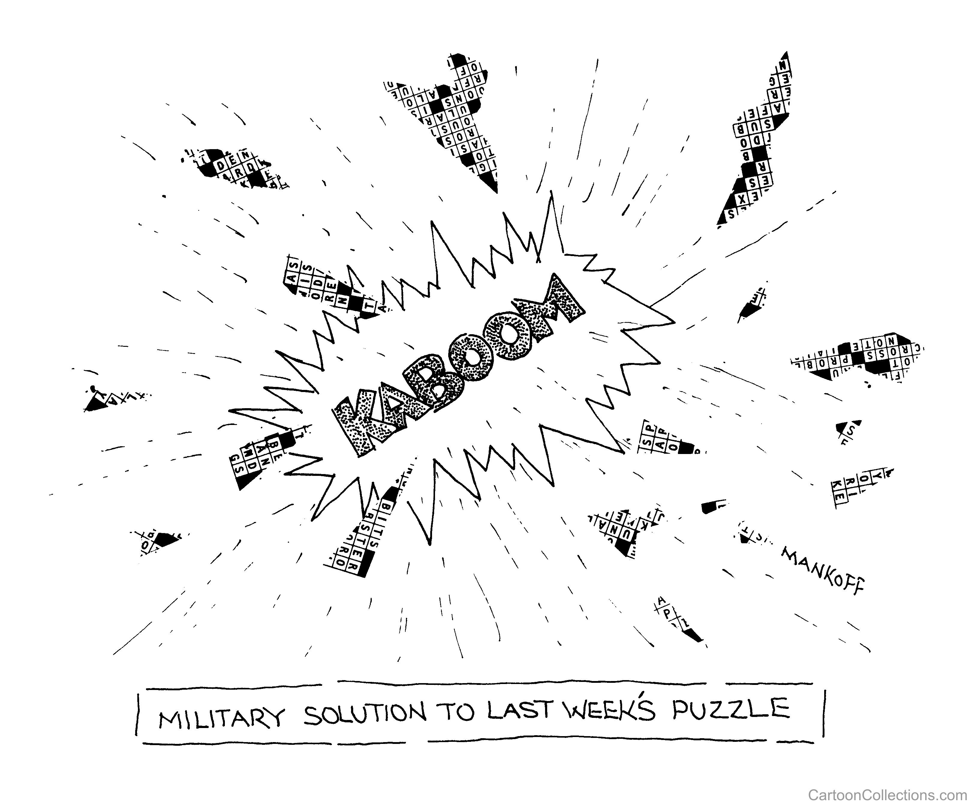 New Yorker Cartoon of an explosion and the caption