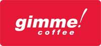 Red Gimme Coffee! Logo