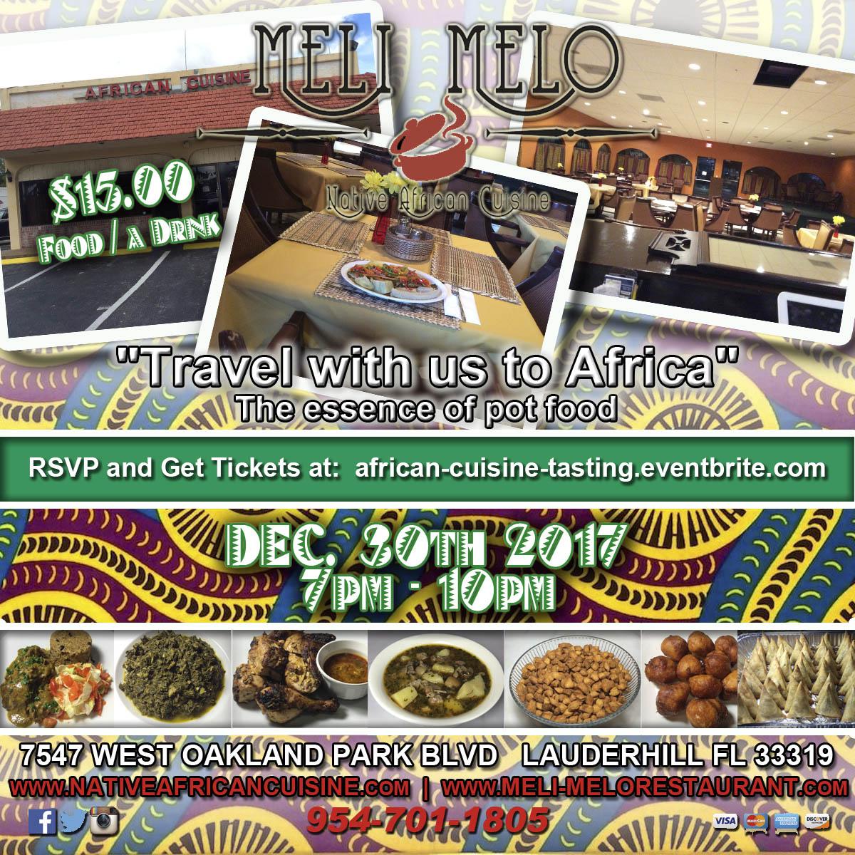 African Cuisine Tasting Flyer