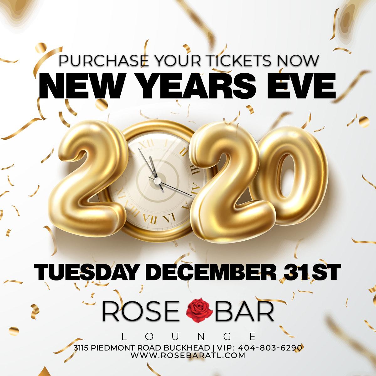 Atlanta New Years Eve 2020.New Years Eve 2020 Rose Bar Atlanta Annual Nye Party