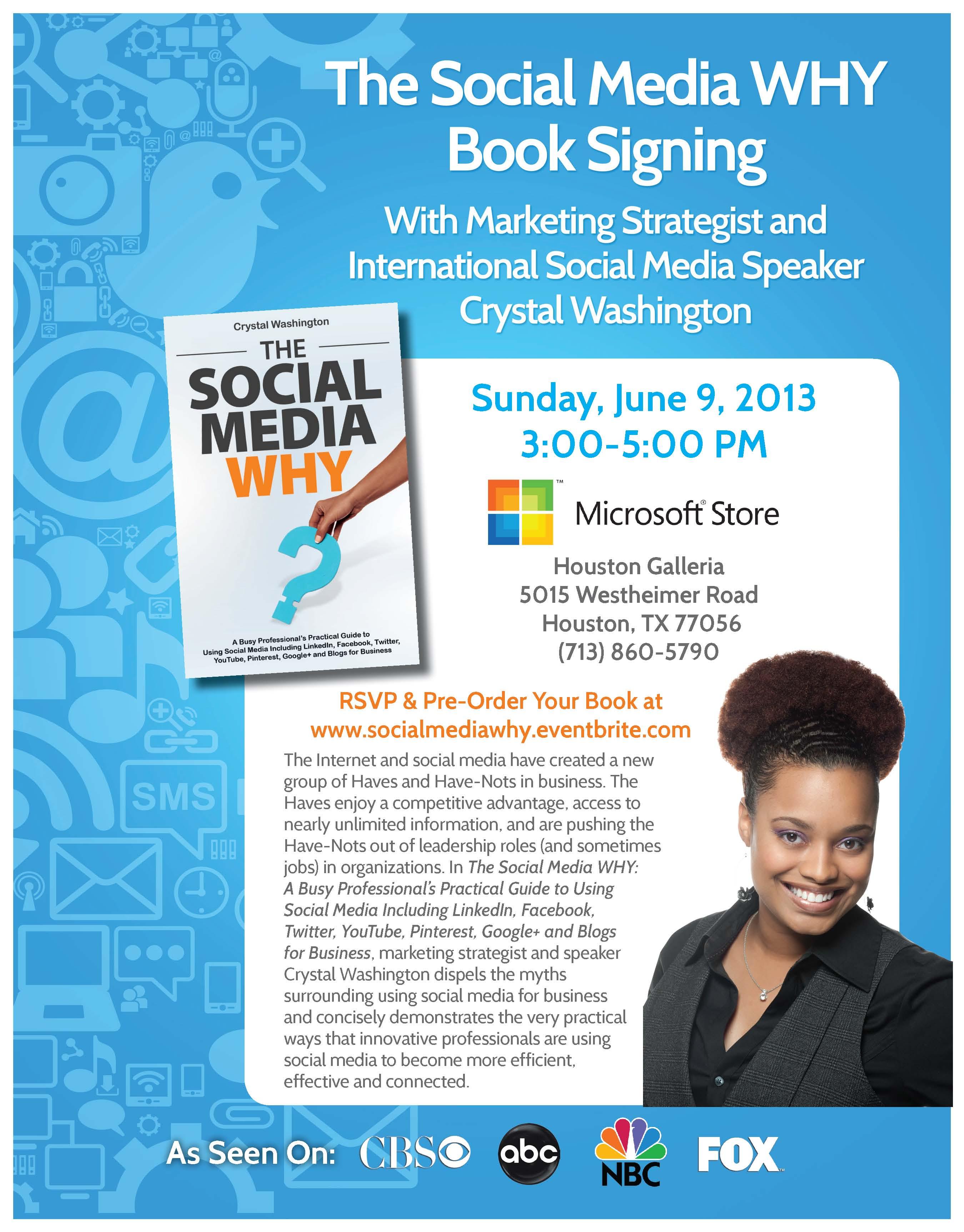 Social Media Why Book Singning Flyer June 9