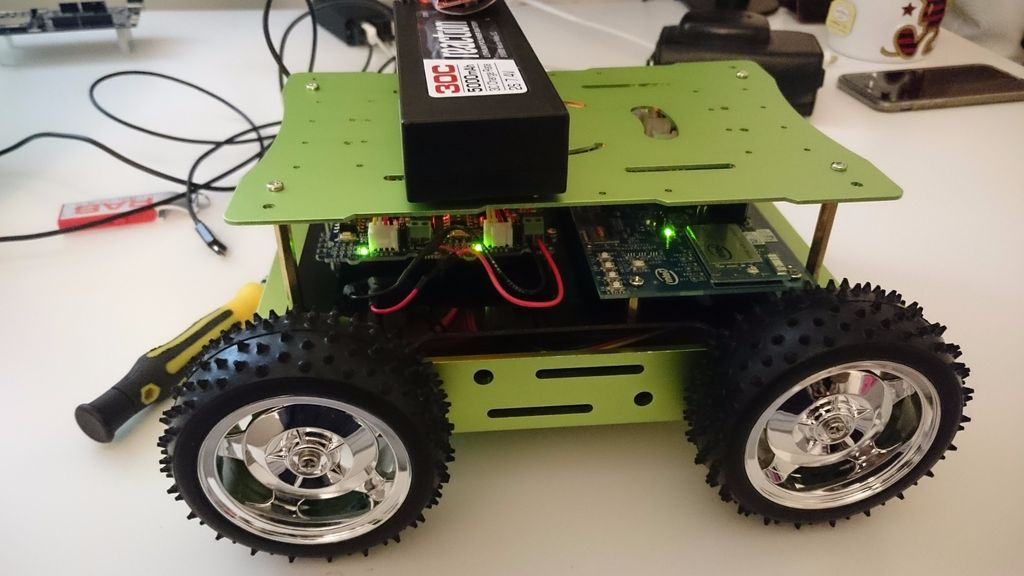 Intel Edison Seeed Rover Kit