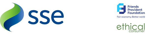 Conference sponsors – SSE, with support from Ethical Consumer and Friends Provident Foundation