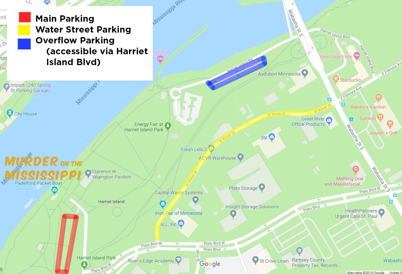 Harriet Island Parking Alternatives