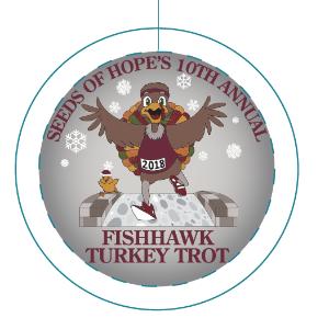 FishHawk Turkey Trot 2018 Ornament