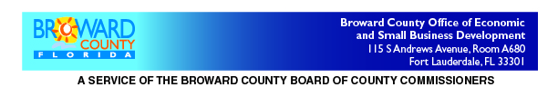 Broward County OESBD, A Service of the Broward County Board of County Commissioners