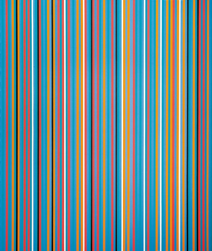 Big Blue by Artist Bridget Riley