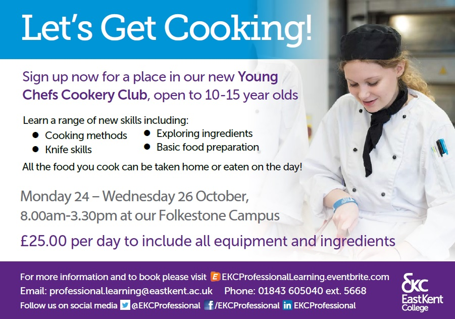 Let's Get Cooking for 10 - 15 year olds.