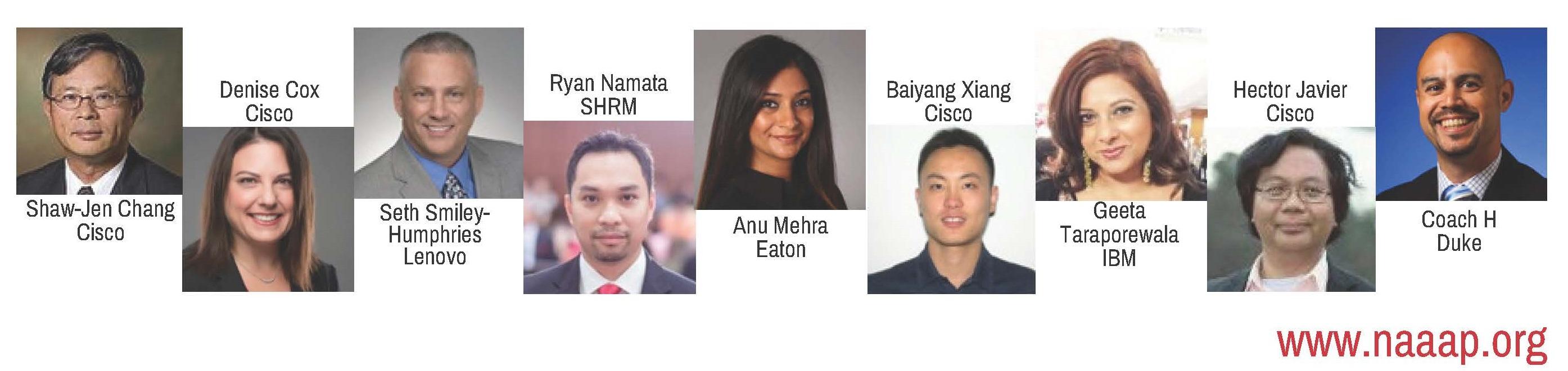 headshots of NAAAP ERG Summit speakers