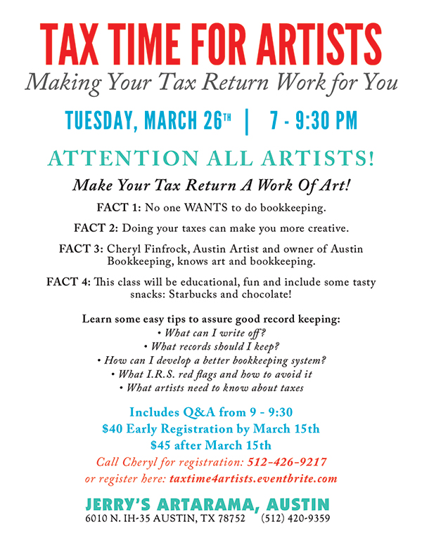 Tax Time for Artists