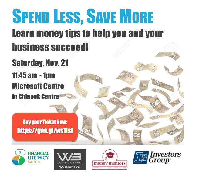 On Saturday, Nov. 21 WB will host speakers from Money Mentors and Investors Group.