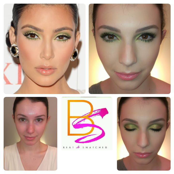 kim k green eyeshadow