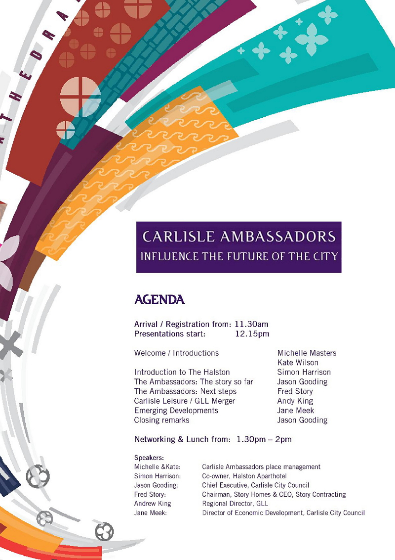 Carlisle Ambassador Final Agenda January 2015