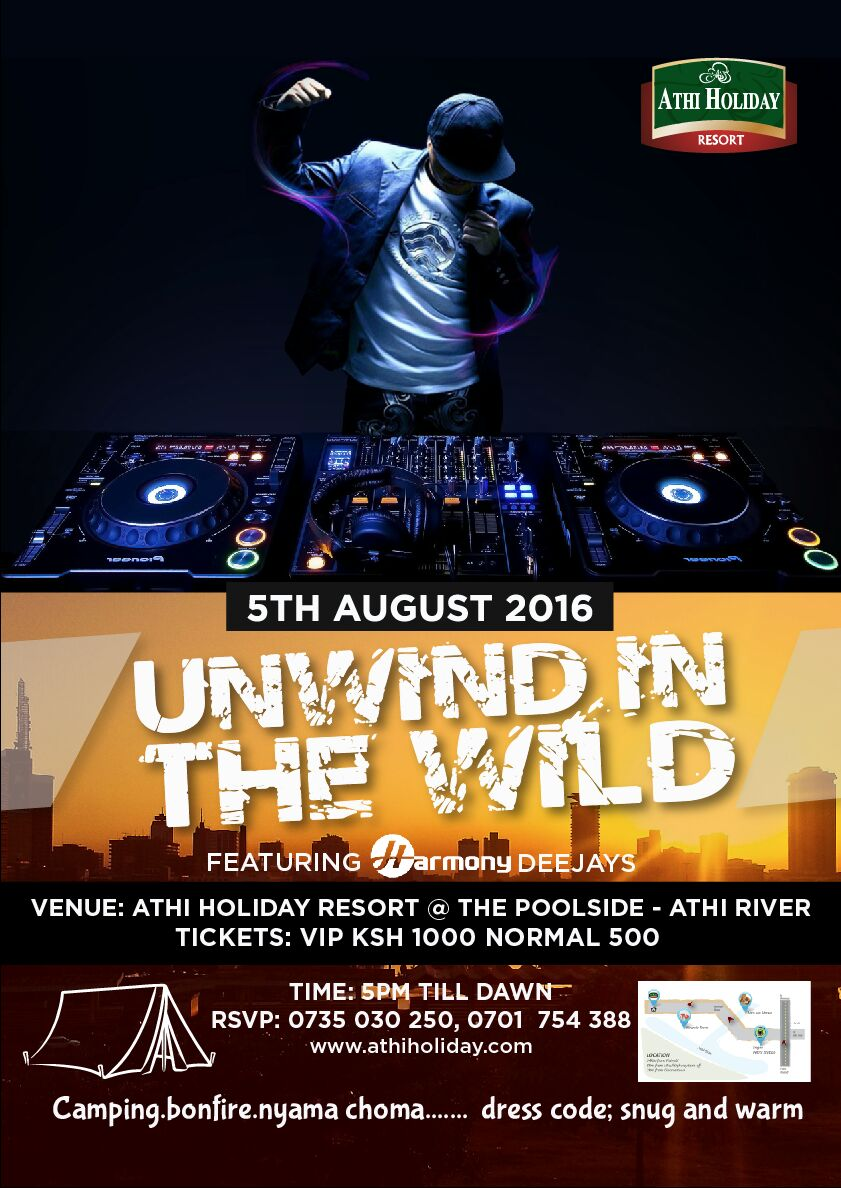 Unwind in the wild tickets fri aug 5 2016 at 5 00 pm for Read unwind online free