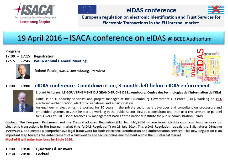 Programme AG ISACA 2016
