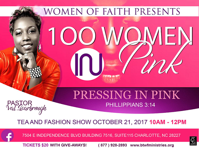 Women Of Faith 100 Women In Pink