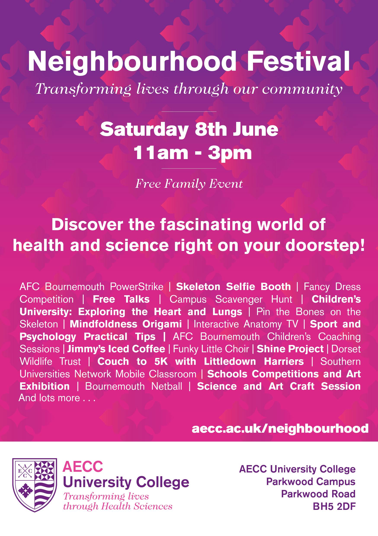 Neighbourhood Festival Flyer AECC University College