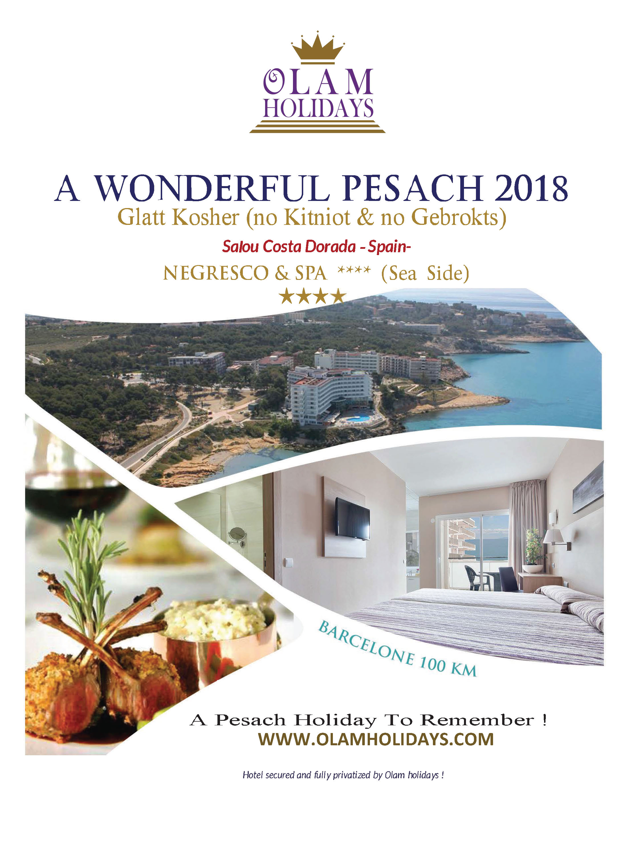 PASSOVER VACATIONS 2017 IN EUROPE PESACH 2017 IN SPAIN KOSHER