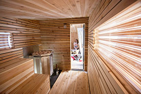 Little Box Sauna interior