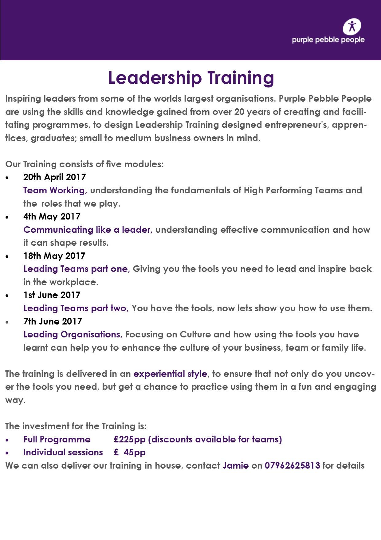 Leadership training report