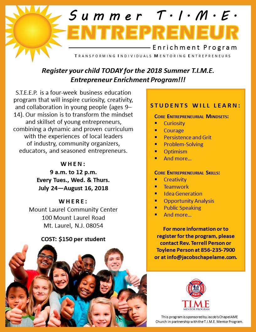 Entrepreneur Program Flyer
