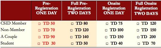 CSID Tunisia Registration Fees