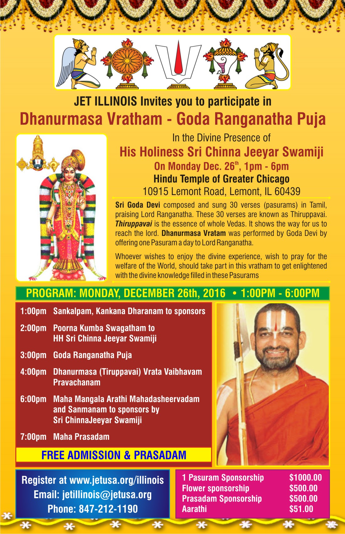 Dhanurmasam with HH Chinna Jeeyar Swamiji