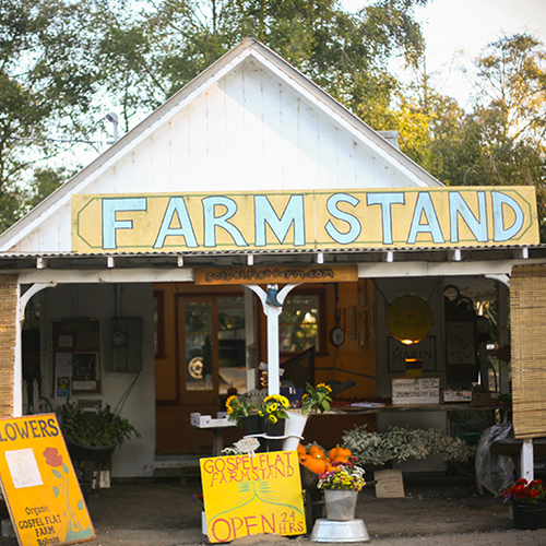 Gospel Flats Farmstand and Field to Body