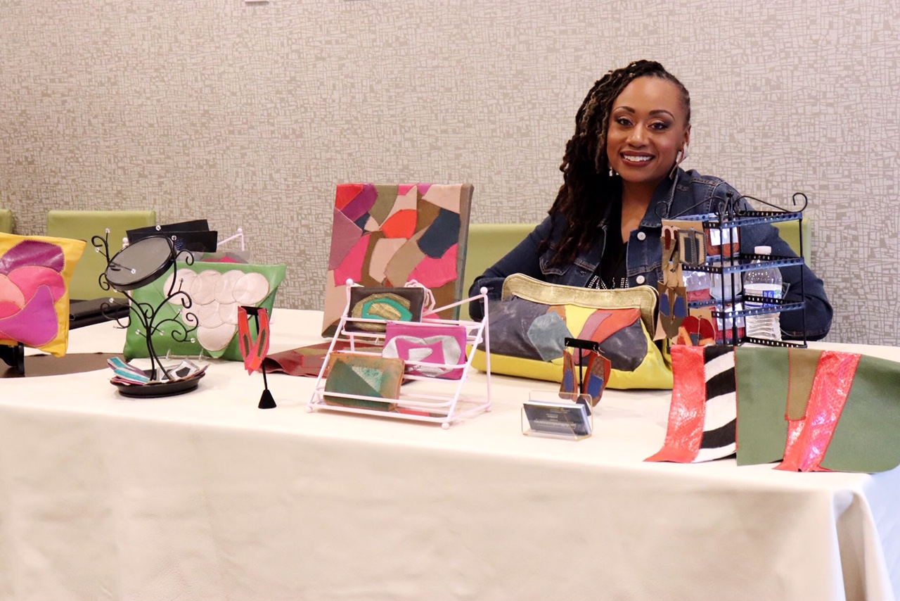 Janelle Marie Accessories at EnVision Board Event with Tip Jones