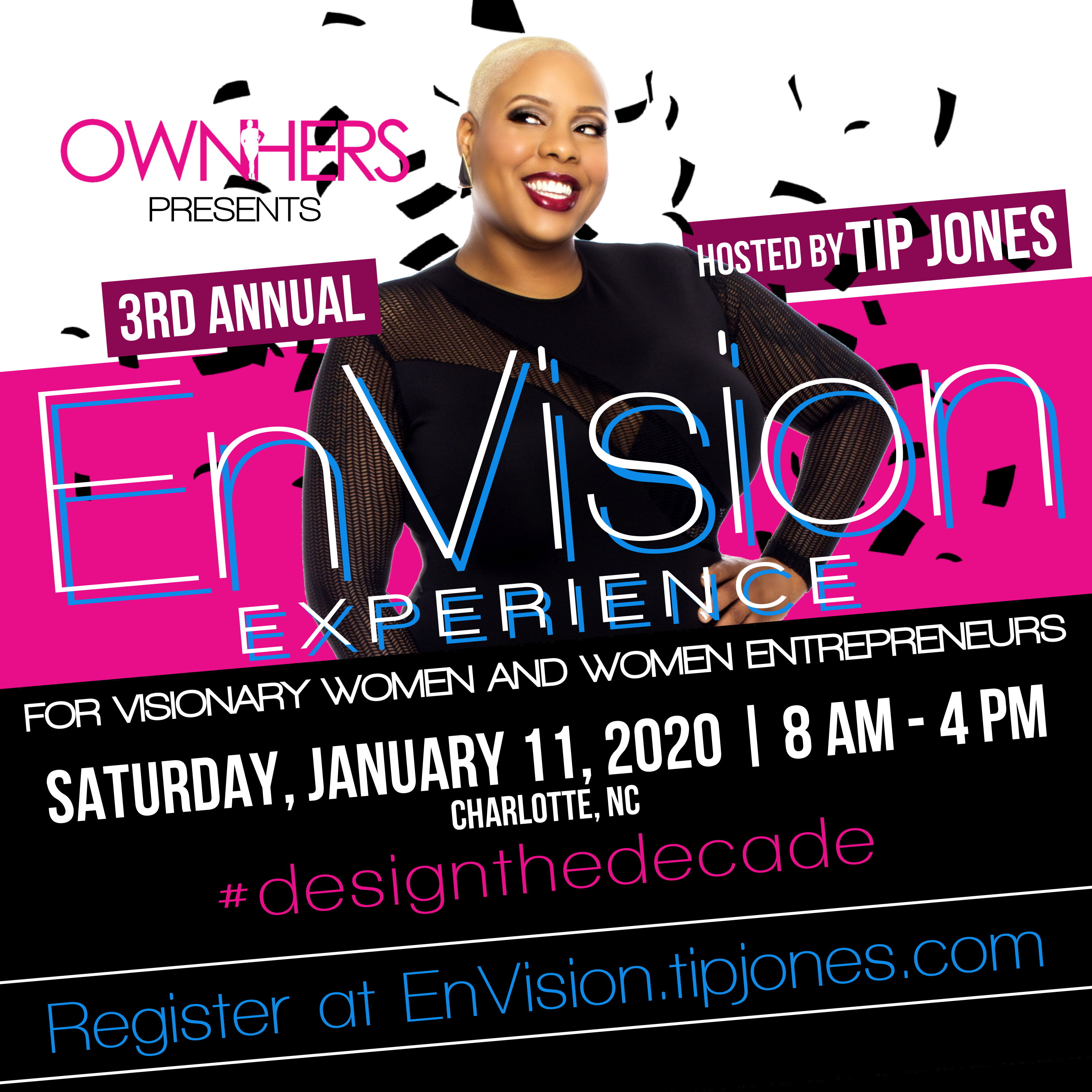 Tip Jones OwnHers EnVision Vision Board Party