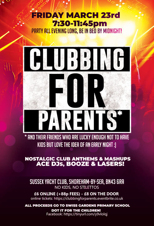Clubbing for parents poster