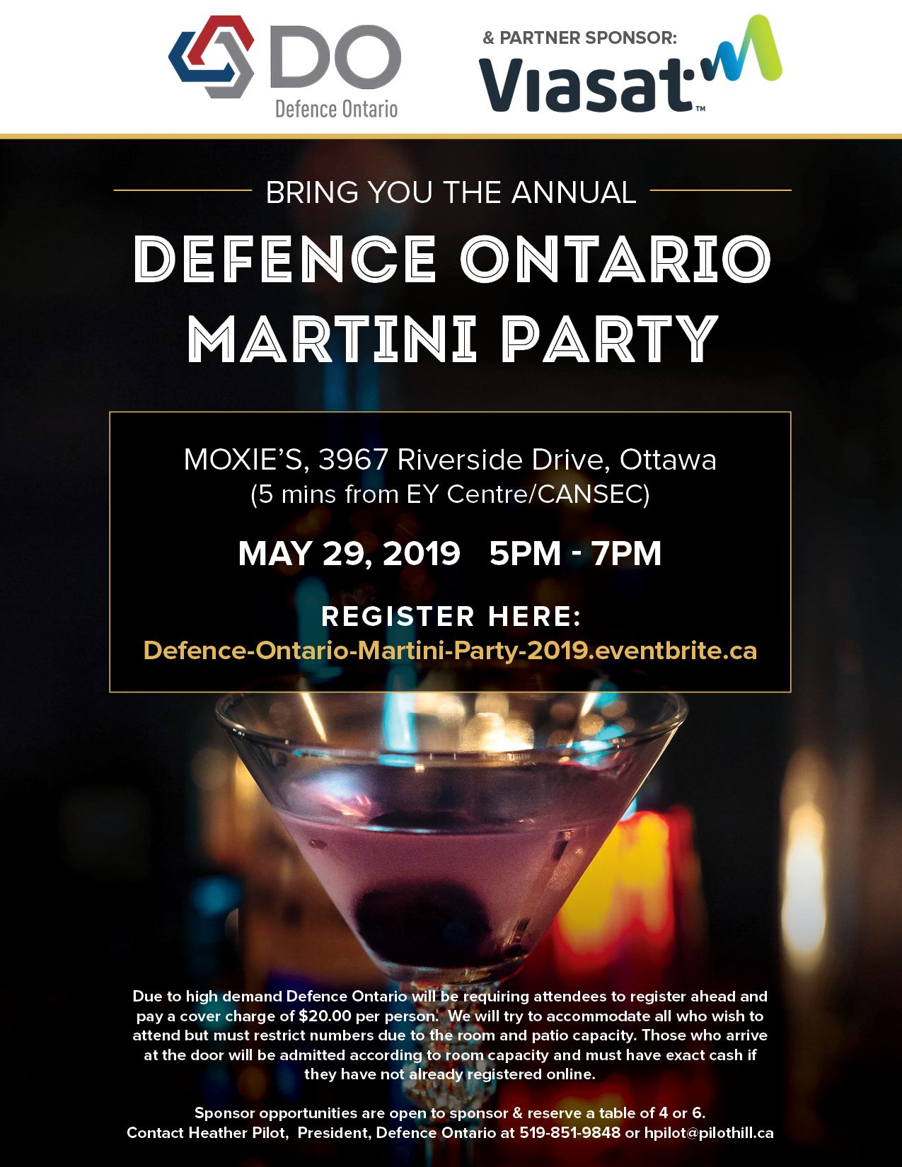 Defence Ontario Martini Party 2019