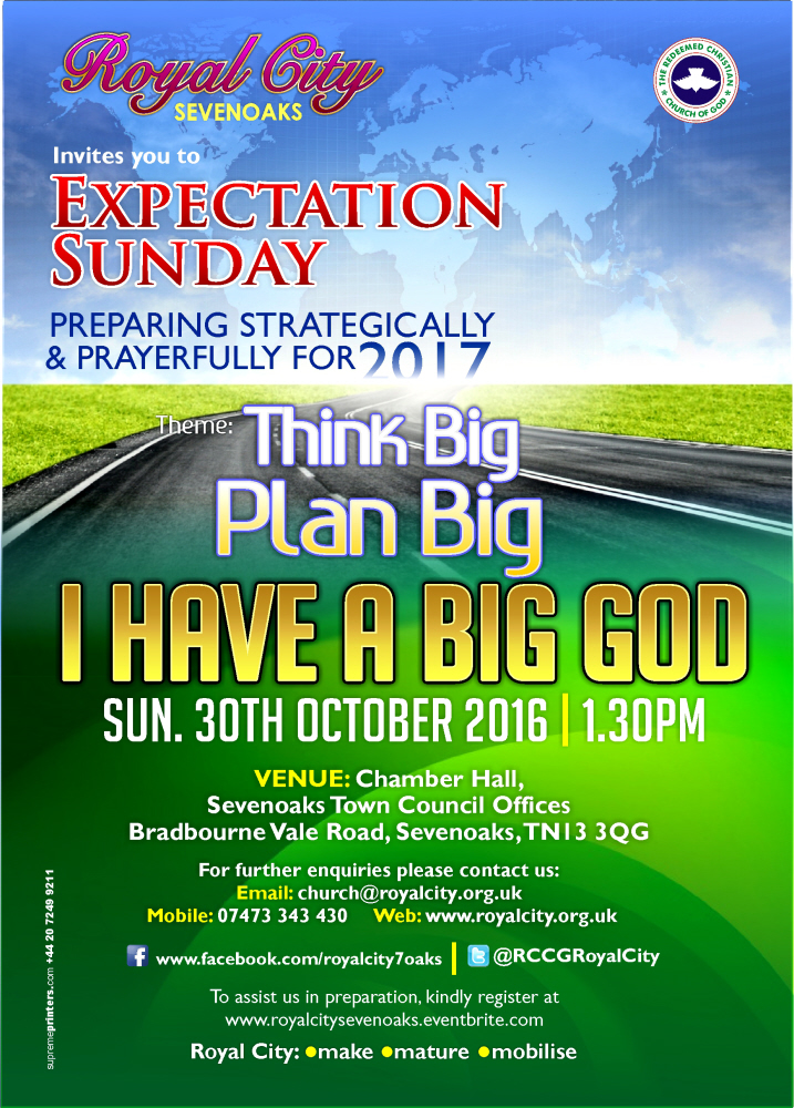 Think Big, Plan Big, I HAVE A BIG GOD