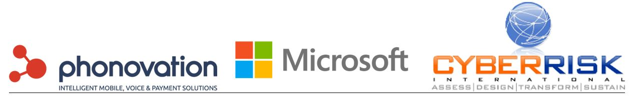 Phonovation Microsoft CRI Logos