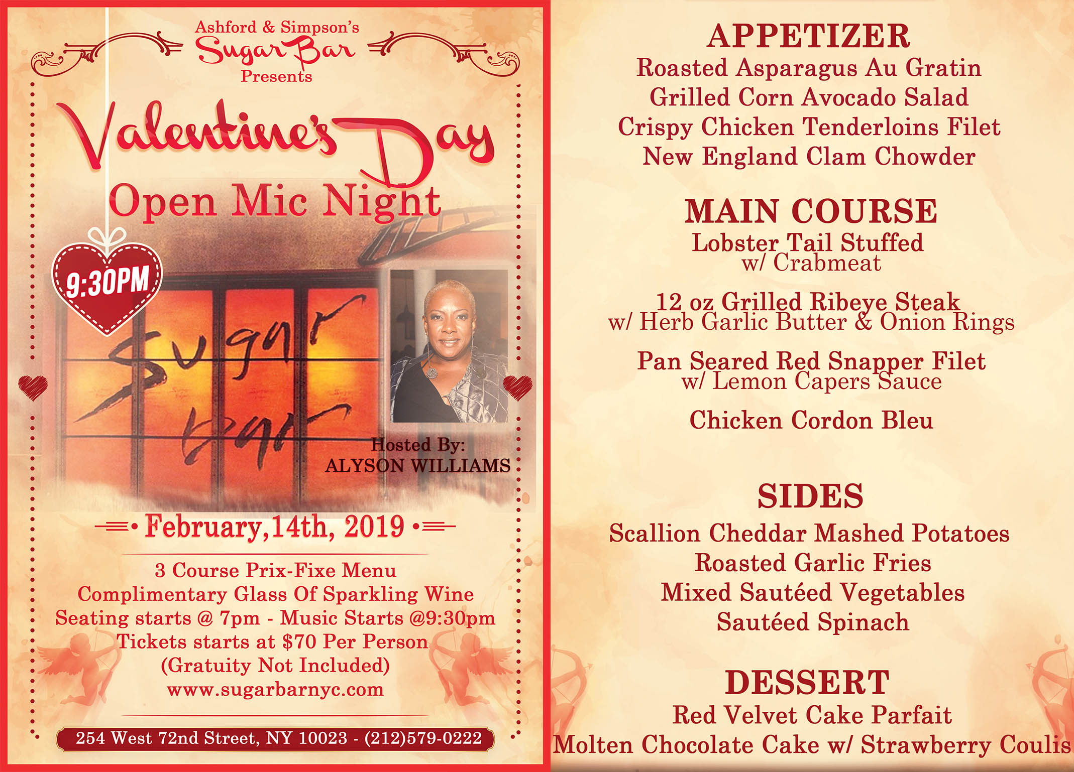 Valentine's Day at Ashford & Simpson's Sugar Bar in New York City Hosted by Alyson Williams