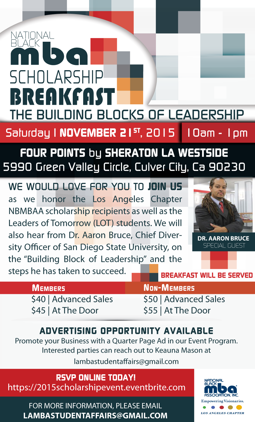 2015 Scholarship Breakfast Flyer