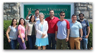 Colombian MSCS students with Director, Elaine Guthrie