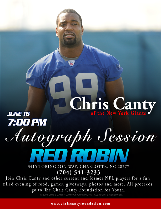 chris canty u0026 39 s autograph session  charlotte  nc  tickets