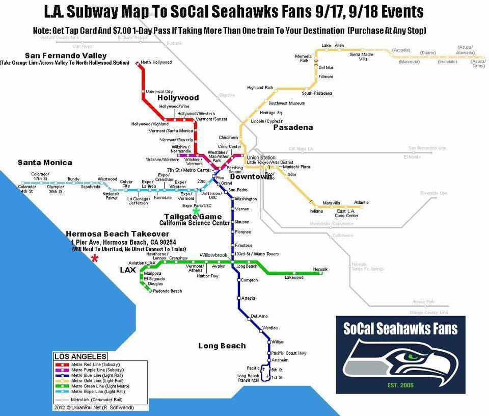 Train to Tailgate Map