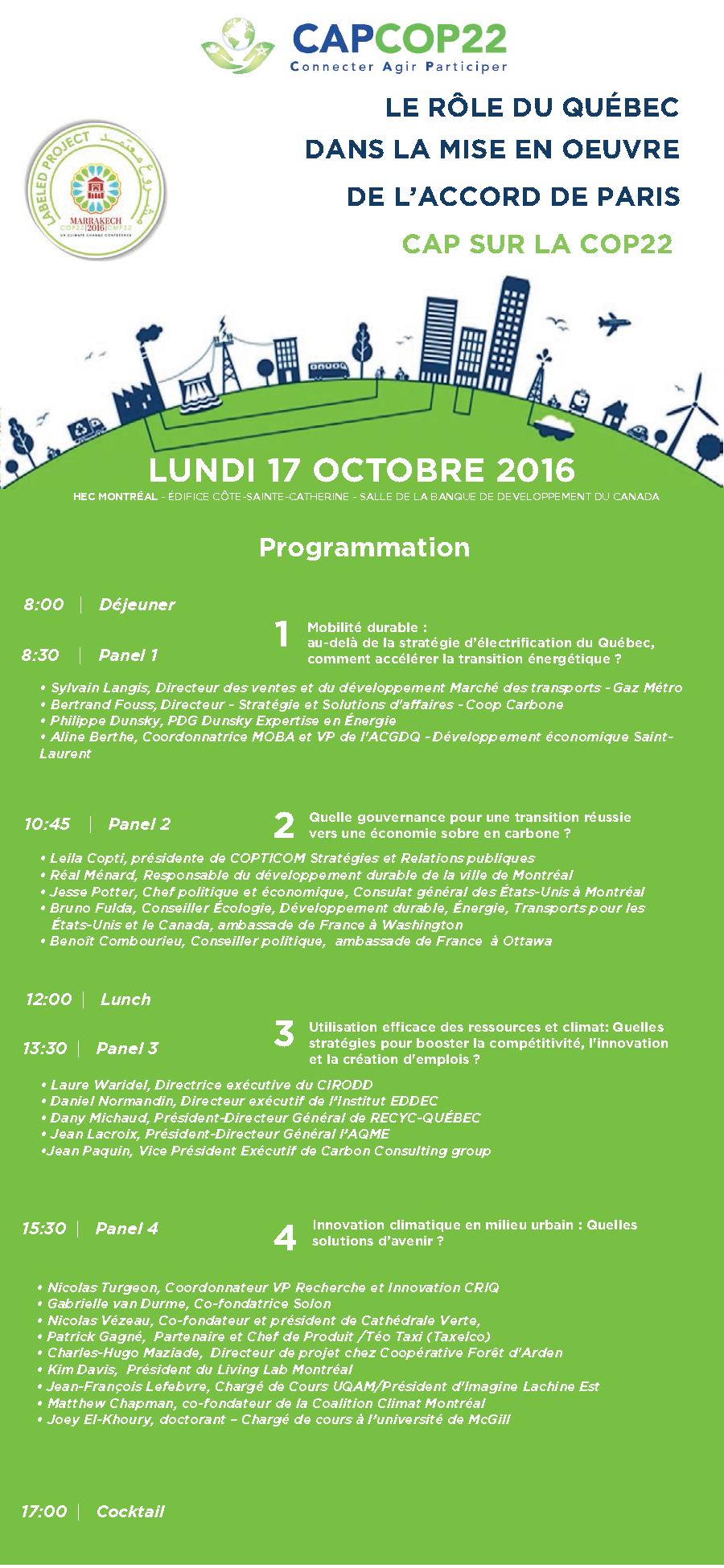 Agenda du Colloque