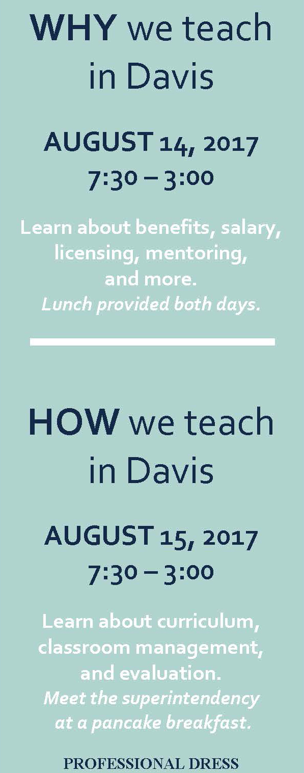 Why & How to Teach in Davis