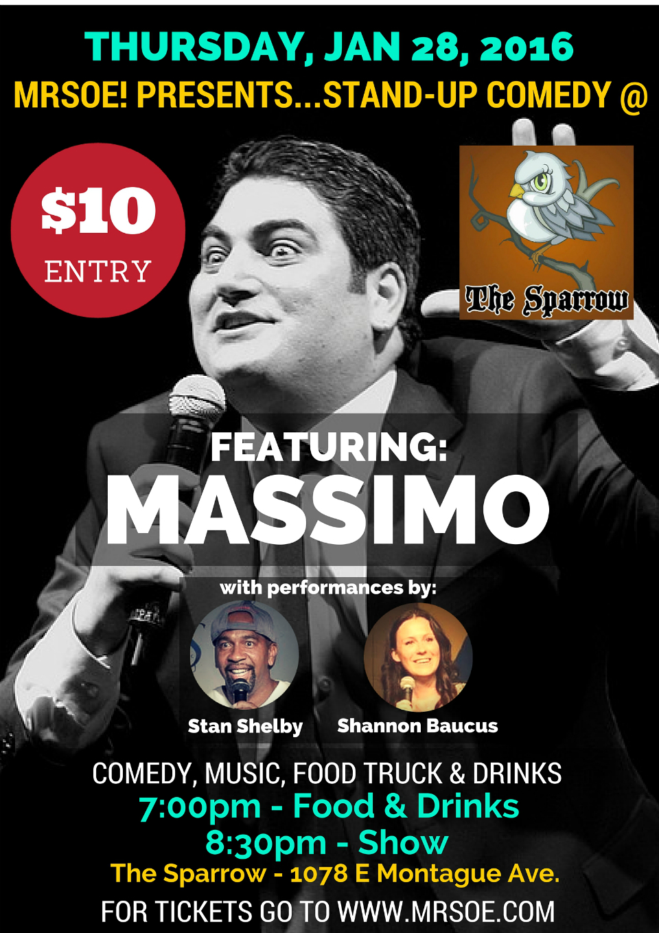 Stand-Up @ The Sparrow Presents...Massimo