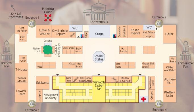Gendarmenmarkt Market Map