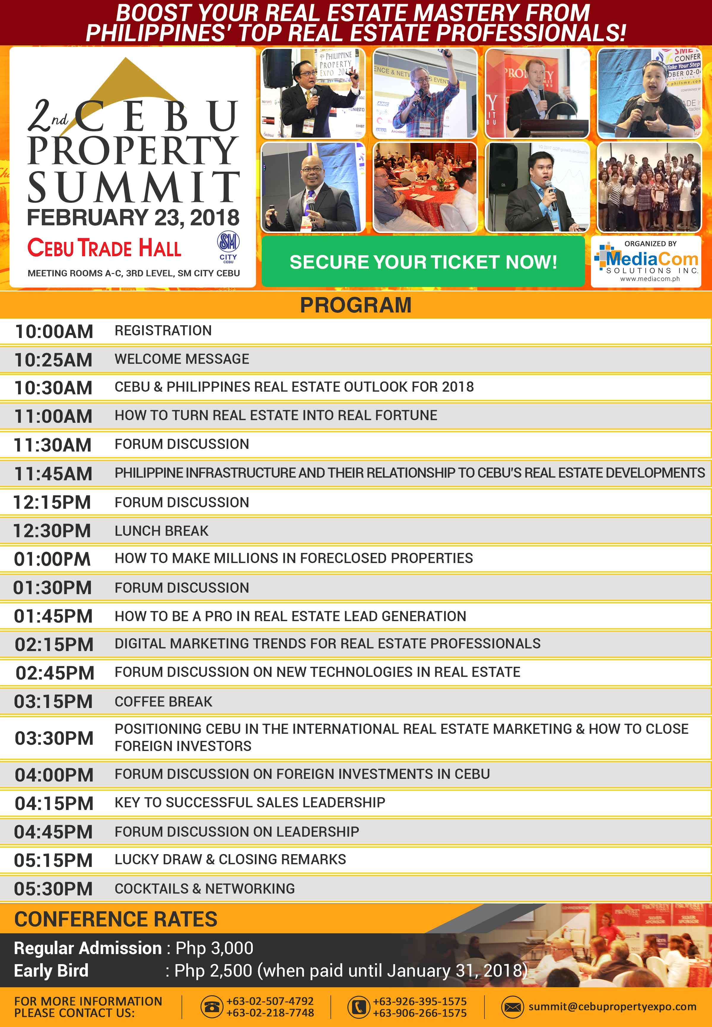 2nd Cebu Property Summit 2018 Program Poster