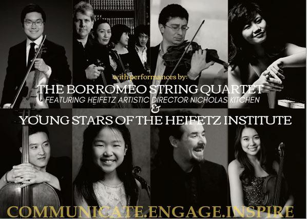 Heifetz Institute Mendelssohn Benefit Performers