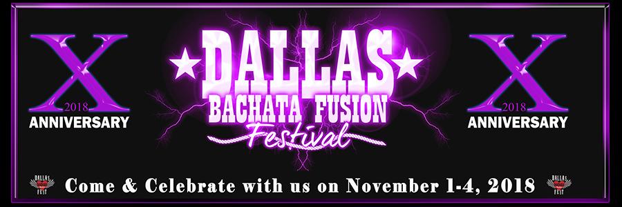 2018 Dallas Bachata Festival Logo - 10 year anniversary
